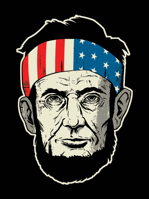 Abe Lincoln: Be Free! tee design